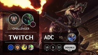 Twitch ADC vs Ezreal - EUW Challenger Patch 922