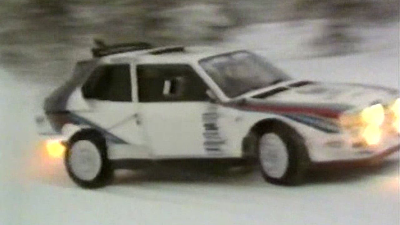 Group b lancia delta s4s first snow test in lapland 1985 with group b lancia delta s4s first snow test in lapland 1985 with markku aln youtube vanachro Choice Image