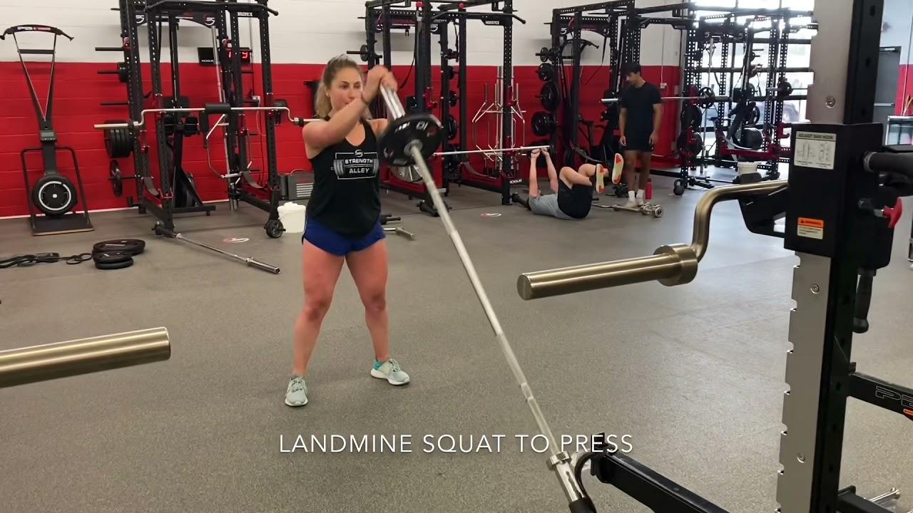 Landmine Squat to Press