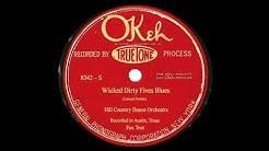 """Electric Release: """"Wicked Dirty Fives Blues"""": Hill Country Dance Orchestra"""