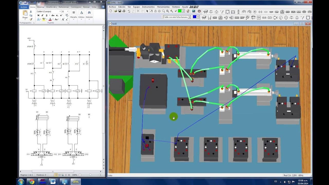 Neumatica festo y lab volt 3d youtube for Simulador de ambientes 3d