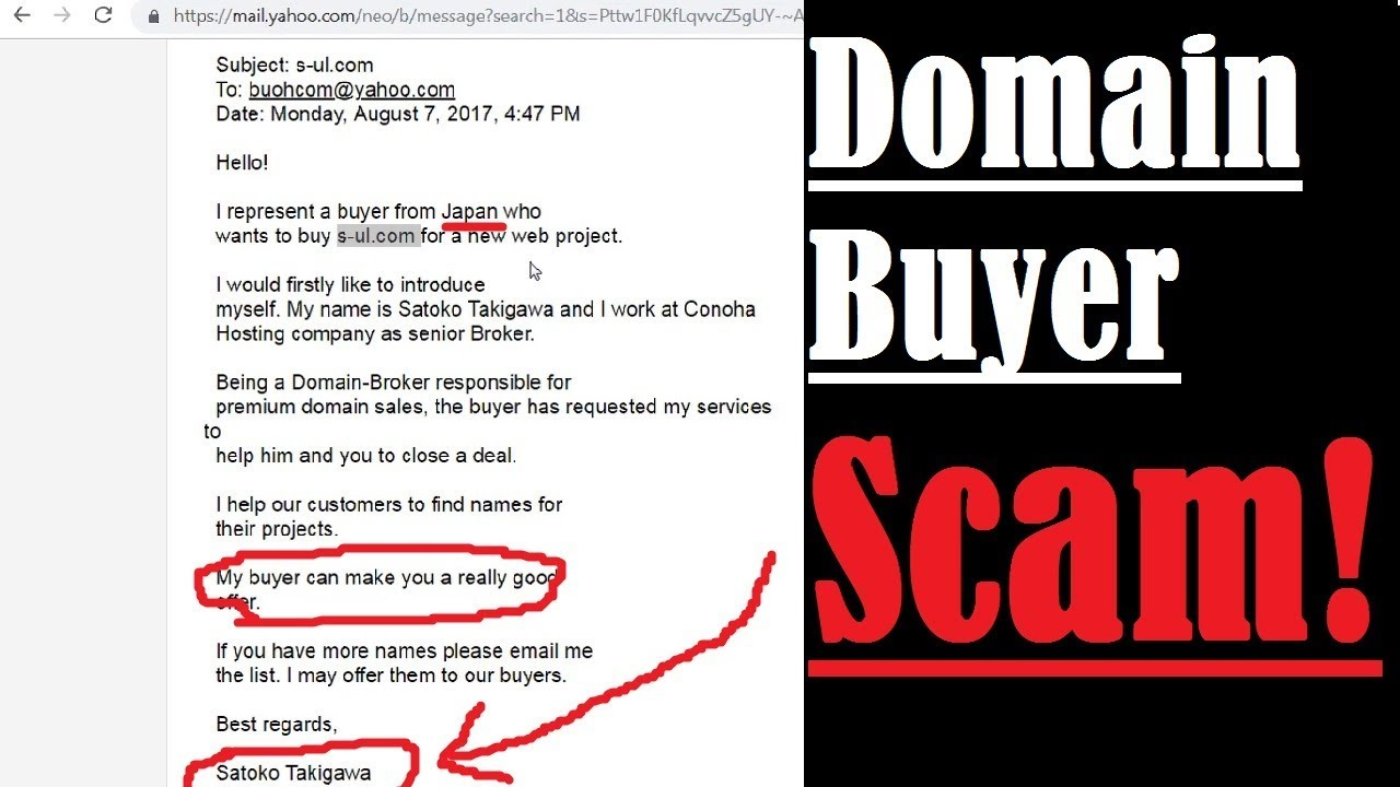 Domain Name Buyer Scam! Domain Appraisal Certificate Scam