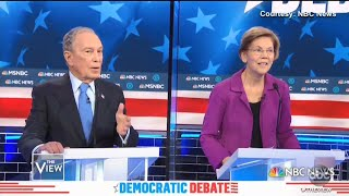 Elizabeth Warren Talks Bloomberg Attacks at Debate | The View
