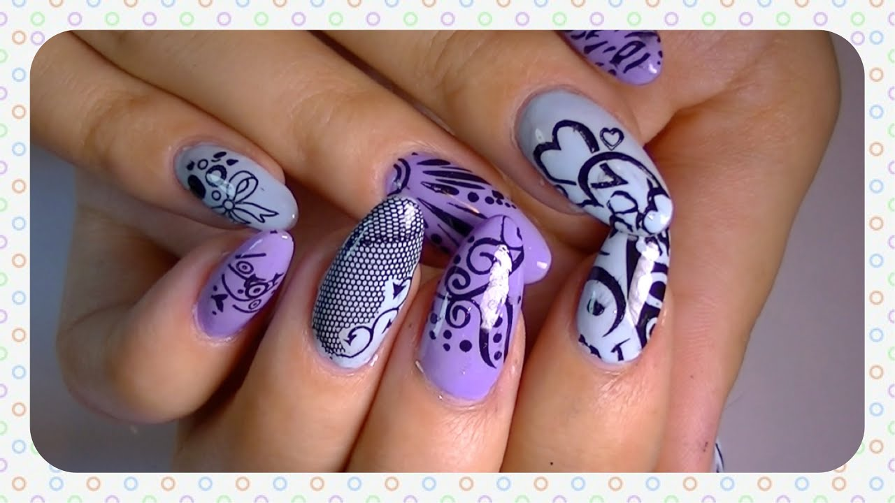 Testing the nail art stamping image plates from banggood com youtube prinsesfo Images