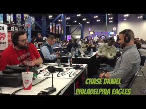 Eagles Backup QB Chase Daniel Talks Philly Fans and Carson Wentz