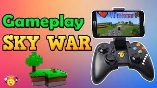 Jogando Minecraft PE SkyWars com Controle 🎮