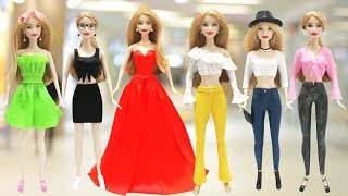 Play Doh Prom Dress, Cropped Top, Jeans for Barbie Doll 6 Fashion Styles