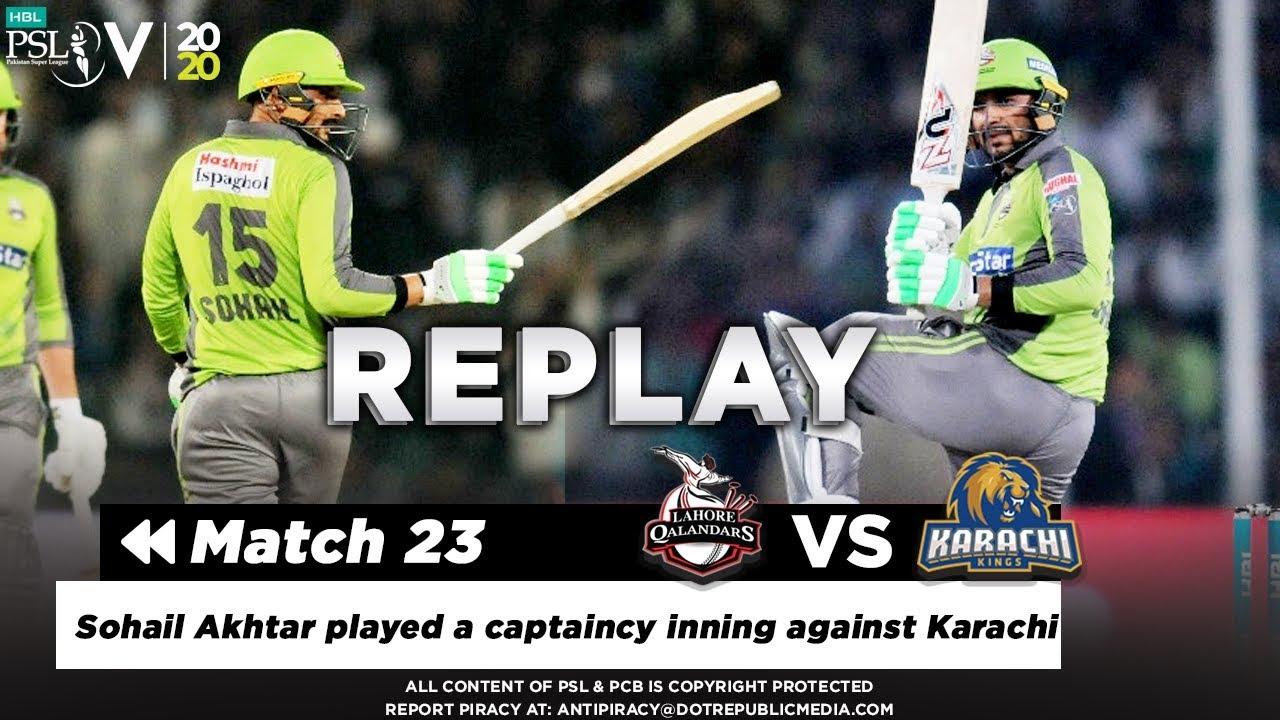 Sohail Akhtar played a captaincy inning against Karachi | Karachi vs Lahore | HBL PSL 2020