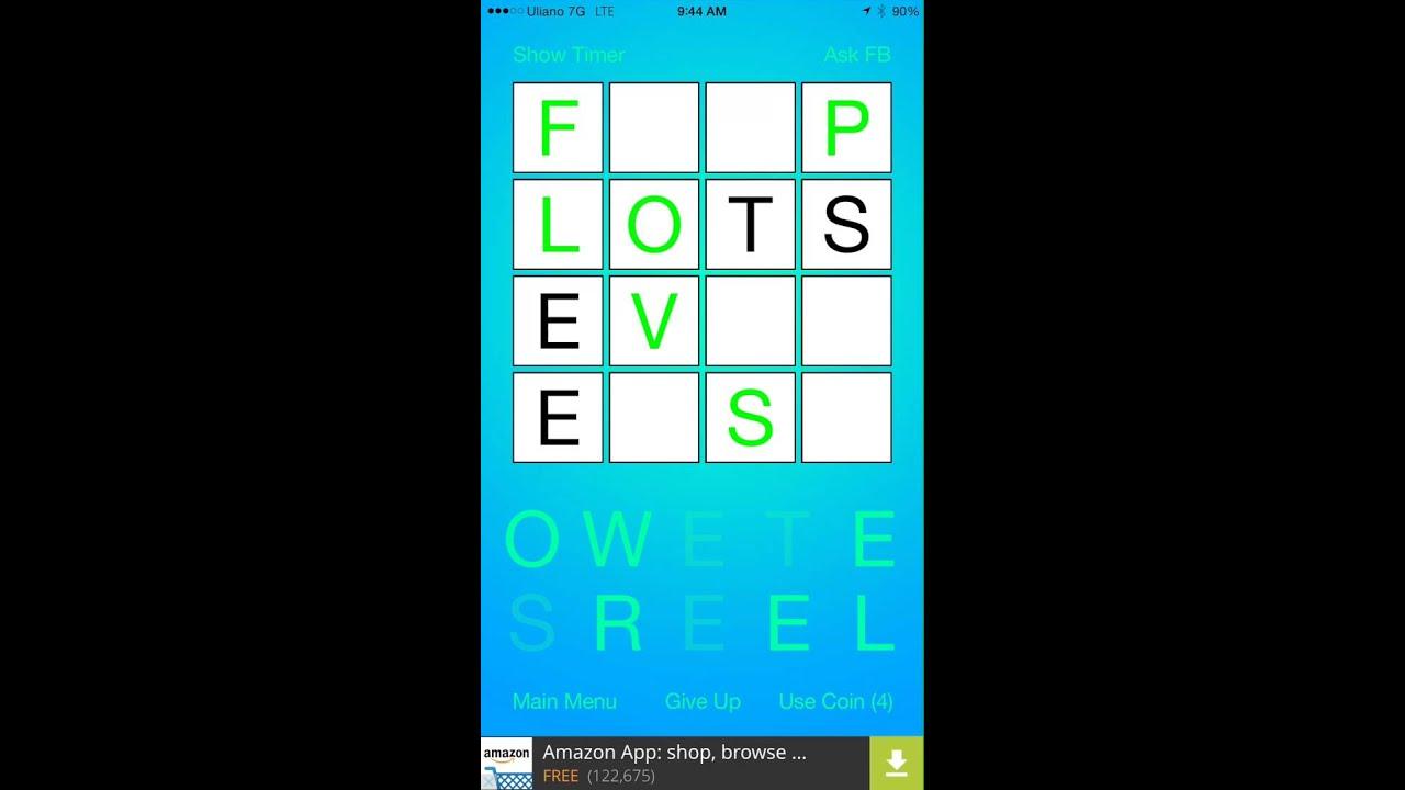4x4 Crossword - Infinite Free Puzzle Game - YouTube