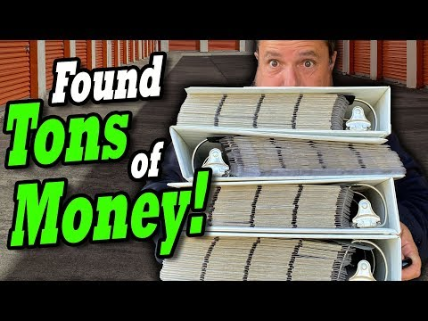 FOUND TONS OF MONEY in the 'vintage gamble' locker I bought at the abandoned storage auctions
