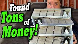 """FOUND TONS OF MONEY in the """"vintage gamble"""" locker I bought at the abandoned storage auctions"""