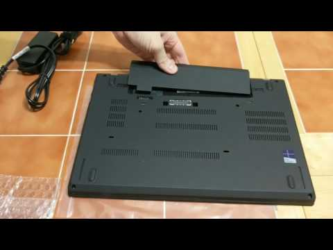 Lenovo T470 Unboxing And Boot Up With 1tb Pci-e Ssd, Size