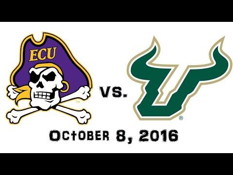 October 8, 2016 - East Carolina Pirates vs. South Florida Bulls Full Football Game 60fps