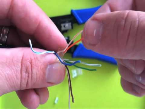 how to crimp a three piece rj45 connector how to crimp a three piece rj45 connector