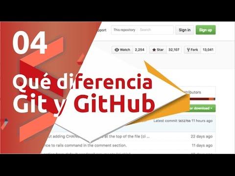Curso de Git y GitHub - 04 Qué diferencia hay entre Git y