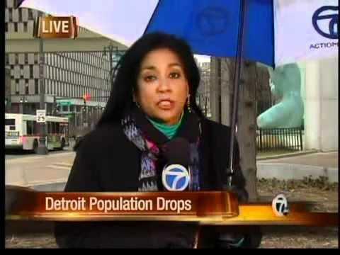 Detroit's population plummets