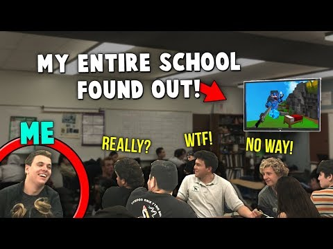 I Broadcasted My Minecraft YouTube Channel To The ENTIRE School! (Live Reactions)