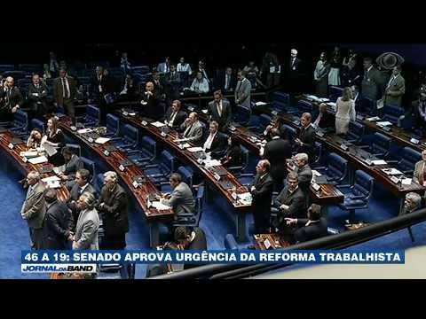 Senado aprova urgência da Reforma Trabalhista