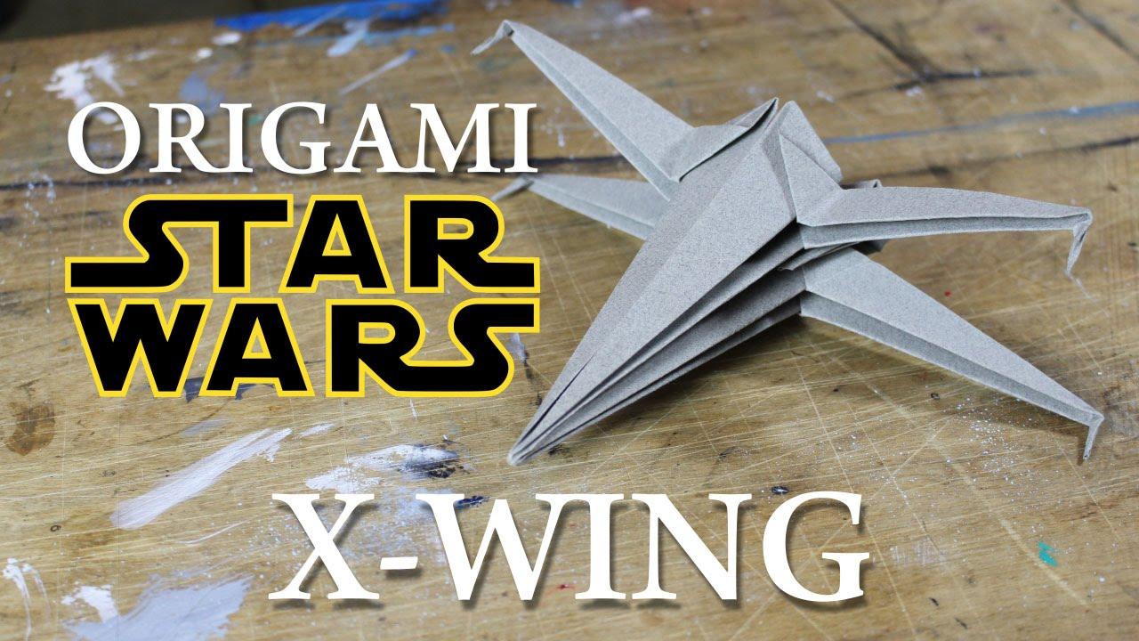 X wing origami star wars fr youtube jeuxipadfo Images