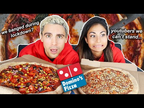 VEGAN DOMINOS PIZZA MUKBANG with Nuttyfoodiefitness (whilst answering inappropriate questions) 🤭🍑