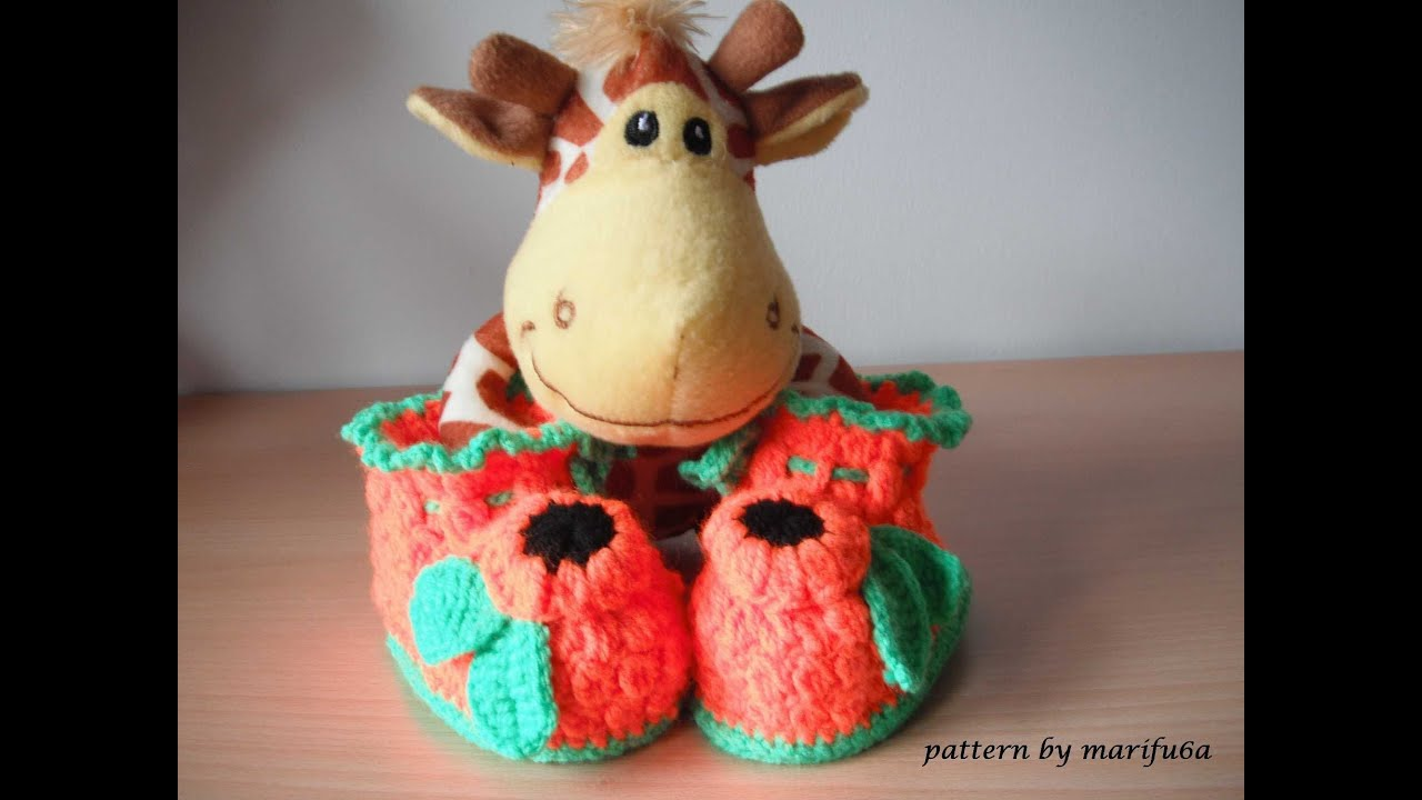 How To Crochet Baby Booties Free Pattern Tutorial For