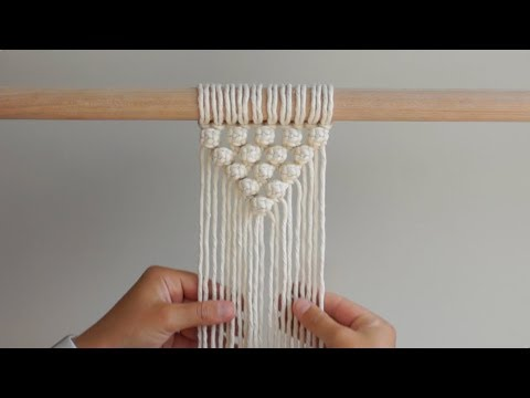 "DIY Macrame Tutorial How To Start Your Work - ""V"" Pattern Using Berry Knots!"