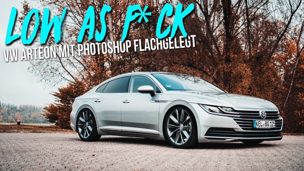 vw arteon low as f ck autos tieferlegen mit photoshop. Black Bedroom Furniture Sets. Home Design Ideas