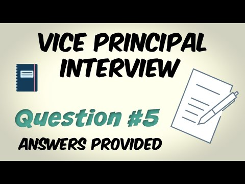 Vice Principal Interview Question 5 Of 10