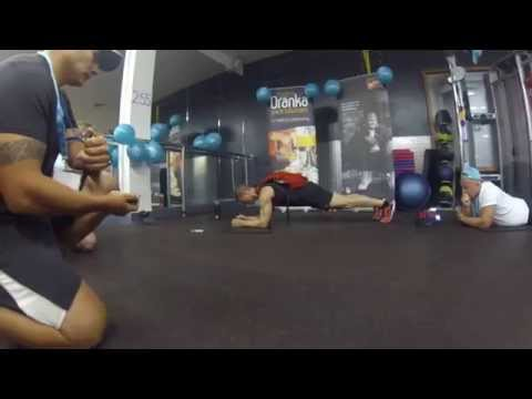 Troy Smith Guinness World Record Abdominal Hover Plank with 100-LB Pack