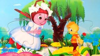 Лунтик, Мила и Пчелёнок - лучшие друзья! Собираем пазлы для малышей Лунтик | Merry Nika