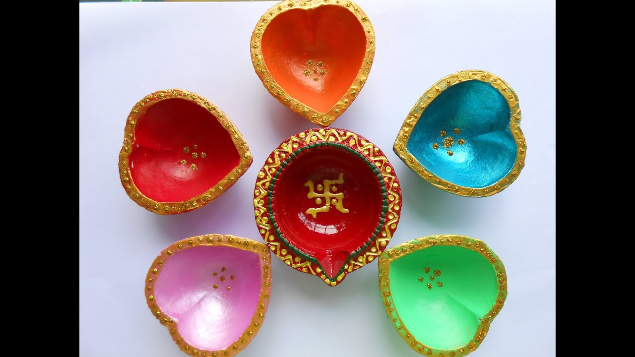 Make Colorful Deepak Set for Karthika Deepam/Deepawali ...