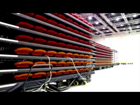 Ferco Seating Project Adelaide Convention Centre Telescopic Arc Max Seat