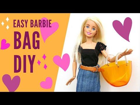 Easy Barbie Bag DIY/ Summer Bag /(Using Only Plastic Bottle and  Paper Clip) 2019  stop motion