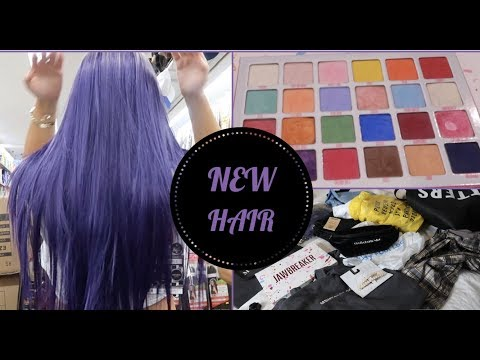 SHOP WITH ME...NEW CLOTHES, NEW MAKEUP,  PURPLE WIG thumbnail