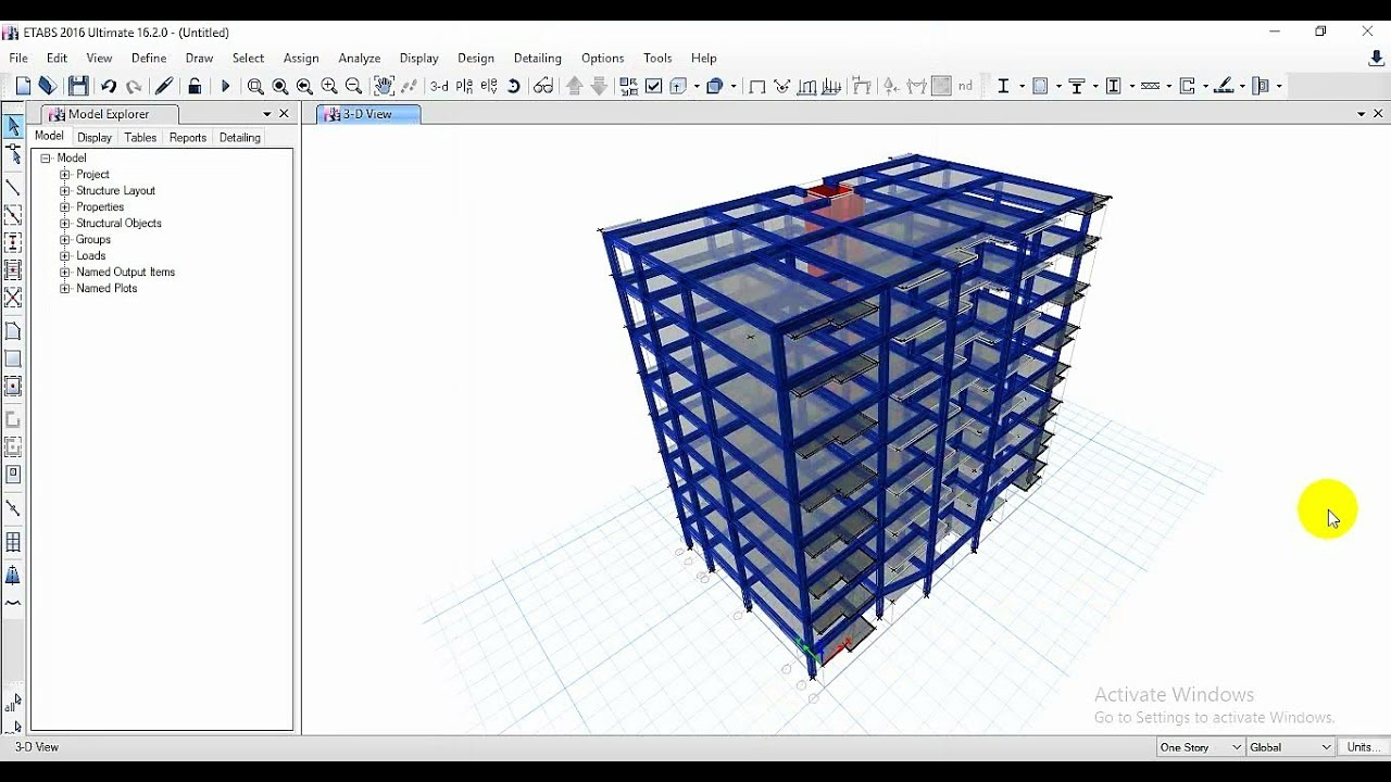 Structural Analysis And Design Using Etabs Safe Project Part 01 Bangla Tutorial Youtube