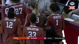 Texas vs Oklahoma Volleyball Highlights