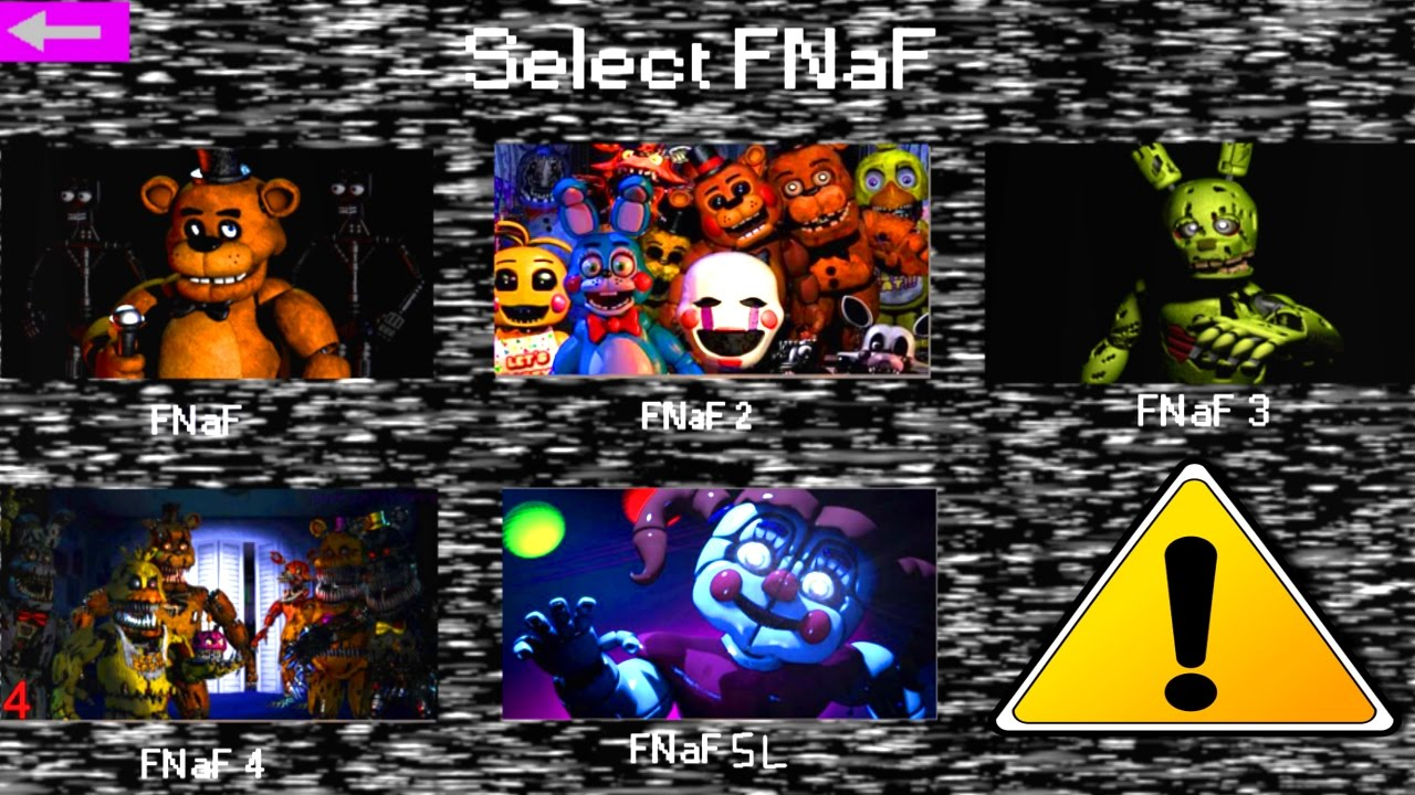 Five Nights at Freddy's 1-5 Jumpscare Simulator 2016
