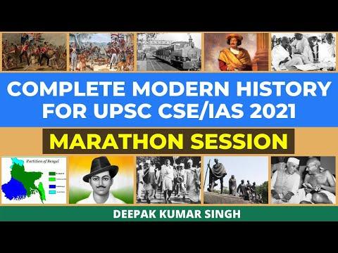 Complete Modern History to Crack UPSC CSE/IAS 2021 | Marathon Session | Deepak Kumar Singh