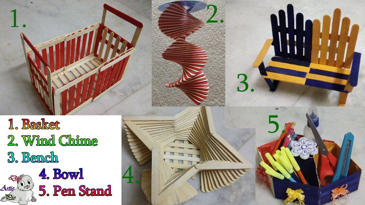 Really Awesome 5 Popsicle Diy Popsicle Stick Craft Ice Cream