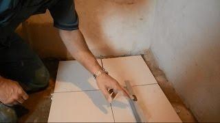 Укладка плитки с уклоном под слив(В ролике показан способ укладки плитки на пол в ванных комнатах и душевых,где требуются уклоны пола к слива..., 2014-12-10T17:54:08.000Z)