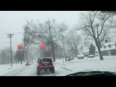 Driving in Vineland NJ during a snow storm