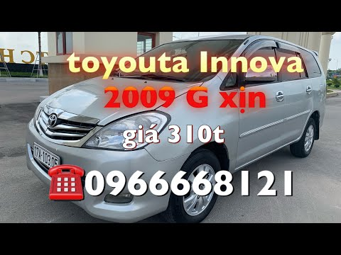 🥵 Toyouta innova G sx 2009 giá chi 310t. sdt ☎️0966668121 Phạn Minh