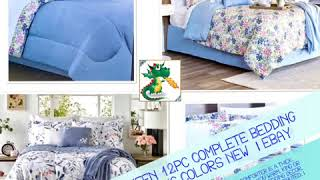 Comforter King Queen 12pc Complete Bedding Sets Reversible Living Colors New  | eBay