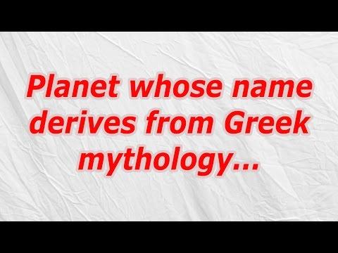 Planet whose name derives from Greek mythology (CodyCross Crossword Answer)
