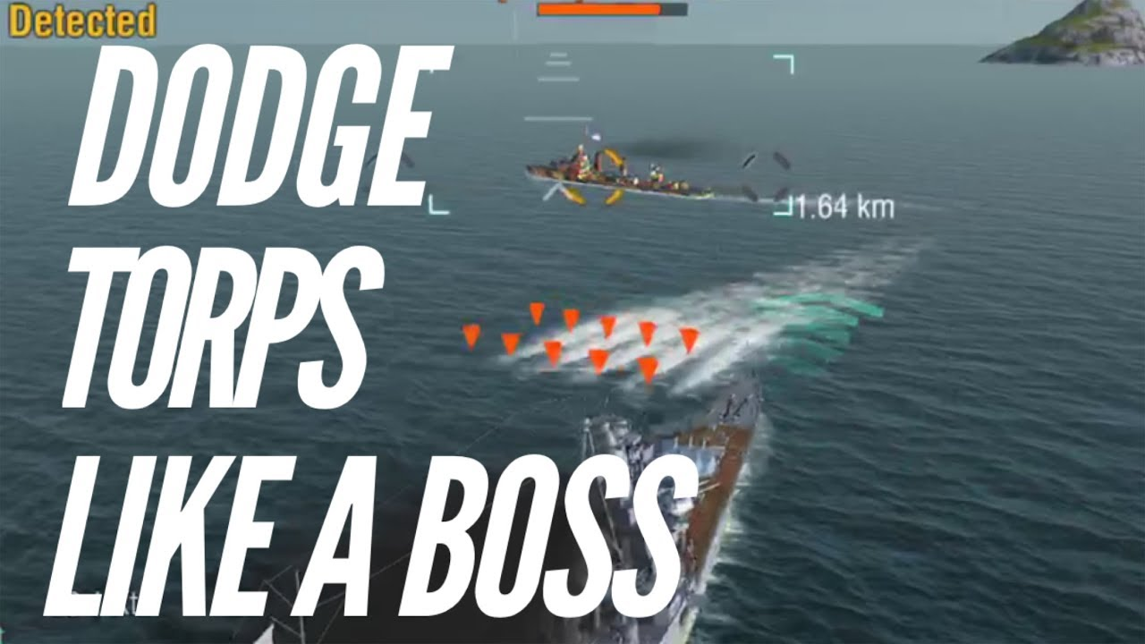World of Warships Blitz How To Dodge Torpedoes (Like A Boss)