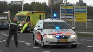 Spoedtransport Verkeerspolitie en Ambulance vanaf Rotterdam Zuid naar EMC #627