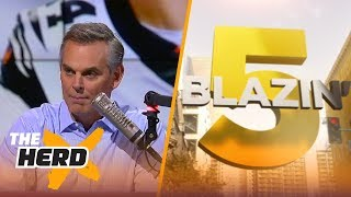 Blazin' 5: Colin's picks for 2017-18 NFL Week 2 | THE HERD