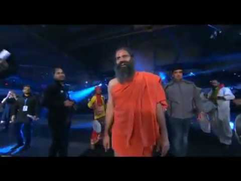 Baba Ramdev excels in promotional PWL bout | Video | Andriy