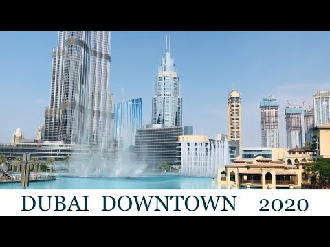 DUBAI 2020 Downtown Walk UAE Today Virtual tour November 2020 Travel vlog Burj Khalifa Dubai Mall