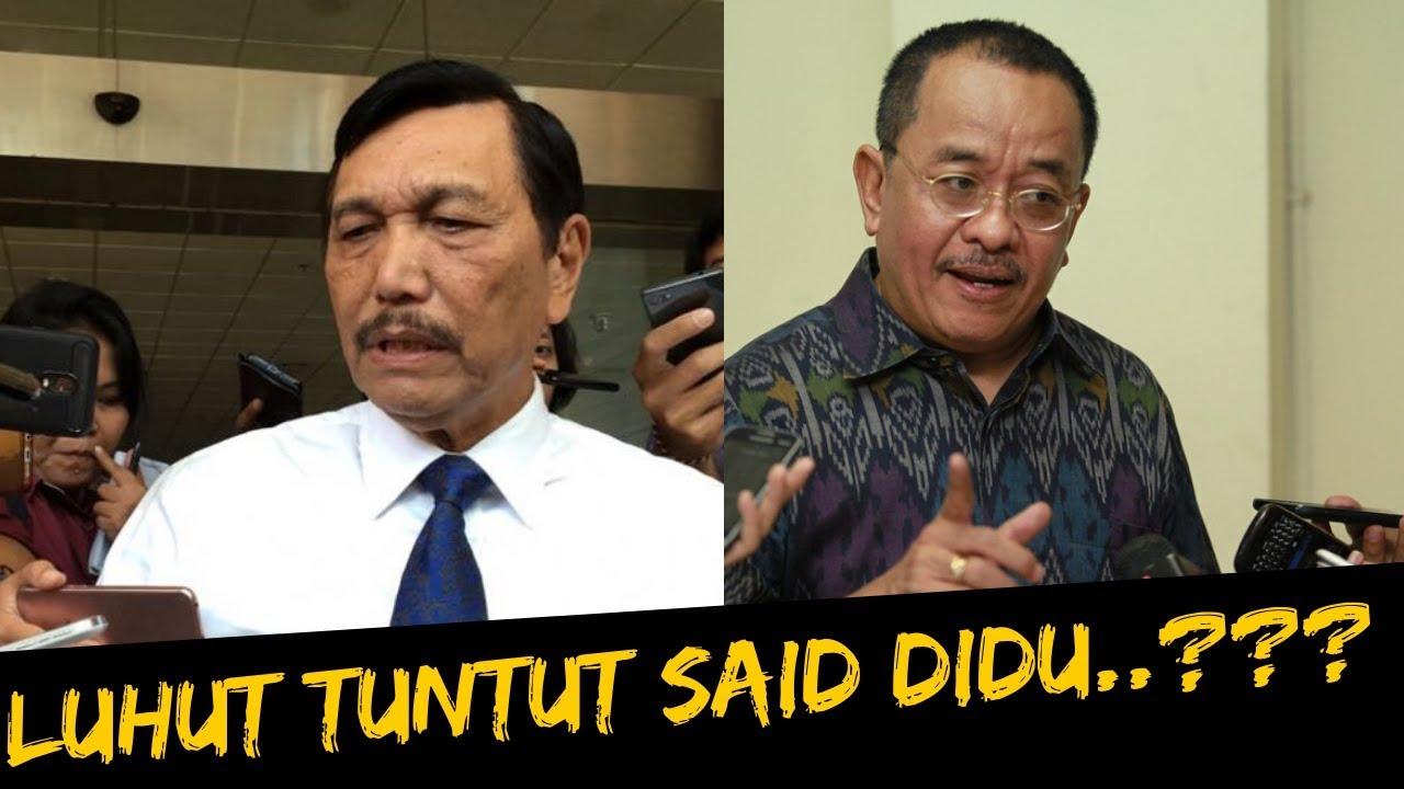 Jubir Luhut Tuntut Said Didu Minta Maaf - YouTube